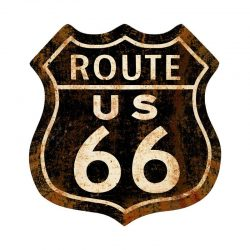 Route 66 Black rusty